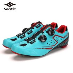 129.99$  Buy now - http://alicnu.worldwells.pw/go.php?t=32697725722 - SANTIC Men Road Cycling Shoes 2017 Carbon Fiber Road Bike Shoes Self-Locking Athletic Bicycle Shoe Sneakers Zapatillas Ciclismo