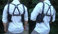Leather Utility Holster Shoulder Crossback by DesertRogueDesigns, $120.00