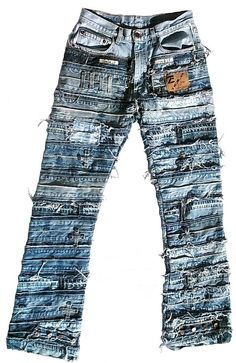 Jean Purses, Scene Outfits, Denim Crafts, Patched Jeans, Project Runway, Sewing Diy, Modern Times, Denim Outfit, Jean Shirts