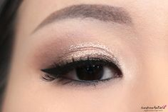 Stila Magnificent Metals Foil Finish Eyeshadow Kitten Review, Swatches, MOTD