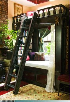 I'm getting a little old for bunk beds, but this would be lovely in a small space.