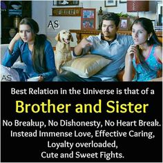 Brother and Sister relationship is the best in Universe Like Share Tag mention ur brother/Sister if you're missing these sweet moments 🧡💙💚💛💜👍 Sister Quotes Images, Bro And Sis Quotes, Brother N Sister Quotes, Brother And Sister Relationship, Sibling Quotes, Brother Birthday Quotes, Sister Quotes Funny, Brother And Sister Love, Love Quotes Funny