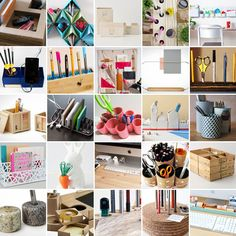 25 Clever Ways to Keep Your Workspace Organized via Brit + Co
