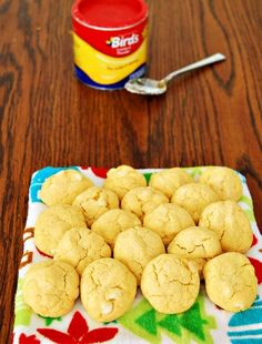 White Chocolate Custard Cookies by The Redhead Baker Custard Biscuits, Custard Cookies, Bird's Custard, Vanilla Custard, Best Cookie Recipes, My Recipes, Dessert Recipes, Favorite Recipes, Custard Powder Recipes