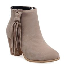 APRICOT Tassels Suede Ankle Boots 38