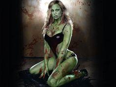 A beautiful zombie woman!  #zombie #zombies #horror #zombiegirl #zombiewoman #zombiebabe