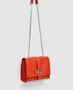 Image 7 of MEDIUM STUDDED LEATHER CROSSBODY BAG from Zara