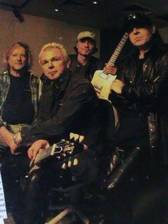 Klaus Meine. Rudolf Schenker. Matthias Jabs. Dieter with the Scorpions in 2002.