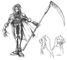 View an image titled 'Vincent Early Sketch' in our Final Fantasy VII art gallery featuring official character designs, concept art, and promo pictures. Final Fantasy 3, Final Fantasy Characters, Fantasy Concept Art, Fantasy Series, Fantasy Art, Valentines Tumblr, Video Game Artist, Vincent Valentine, Game Character Design