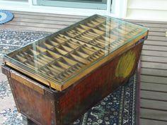 printers tray coffee table - google search | printer's trays