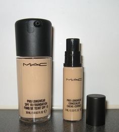 """Mac Pro Longwear Foundation and Concealer  """