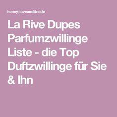 La Rive Dupes Parfumzwillinge Liste - die Top Duftzwillinge für Sie & Ihn