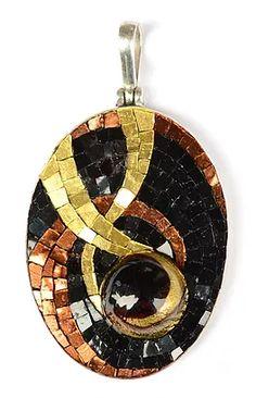 Margo Anton's Mosaic Jewels   LARGE MOSAIC PENDANTS