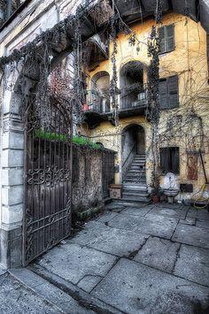 Racconigi courtyard . Italy