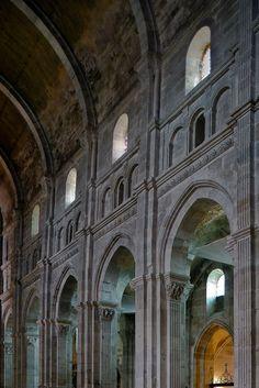 Nave elevation, Cathédrale Saint Lazare, Autun (Côte-d'Or)  Photograph by Dennis Aubrey