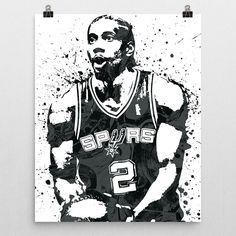 Kawhi Anthony Leonard poster. Leonard is an American professional basketball player for the San Antonio Spurs of the National Basketball Association (NBA). Leonard won an NBA championship with the Spu