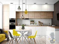 Kitchen Bar Design, Kitchen Layout, Interior Design Kitchen, Living Room Kitchen, Home Decor Kitchen, Home Kitchens, Dining Room, Minimalist Kitchen, Cuisines Design