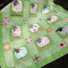 Finally, got my sheep together! This quilt was really fun to make