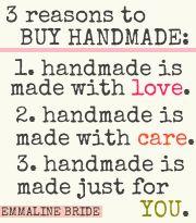3 Reasons to Buy Handmade #love