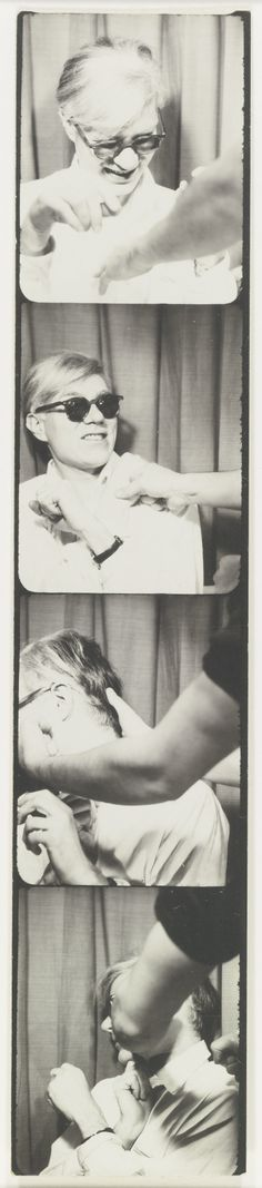 Andy Warhol 1928 - 1987 SELF-PORTRAIT gelatin silver print 7 3/4 by 1 5/8 in. 19.7 by 4.1 cm. Executed in 1963-1964.