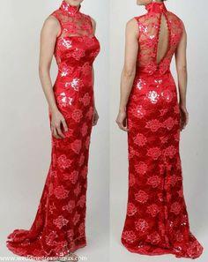 Chinese Traditional Mermaid Wedding Dress