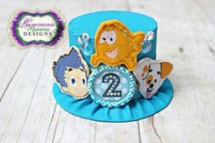 Adorable Bubble Guppies Inspired Mini Top Hat Birthday by ShopPMD, $23.50
