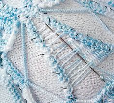 Crochet Lace in Anna Burda March 2007 Close up of needle lace stitch used in a Romanian Point Lace crochet project. From Anna Burda magazine, March up of needle lace stitch used in a Romanian Point Lace crochet project. From Anna Burda magazine, March Freeform Crochet, Irish Crochet, Crochet Lace, Crochet Stitches, Embroidery Stitches, Russian Crochet, Doilies Crochet, Paper Embroidery, Needle Tatting
