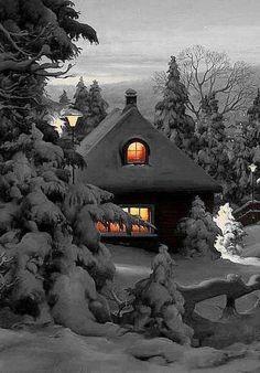 Winter Cabin..