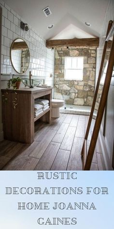 Rustic Decorations For Home Diy Projects Rustic Decorations For Home Ideas Kitchen Designs Farmhouse Style Kitchen, Rustic Kitchen, Barn Bathroom, Rustic Interiors, Joanna Gaines, Country Chic, Kitchen Designs, Modern Rustic, Rustic Decor