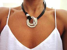 collares para mujeres, eternidad collar, anillo collar, joyería de plata, joyas etsy, collar de plata esterlina, collares de las mujeres
