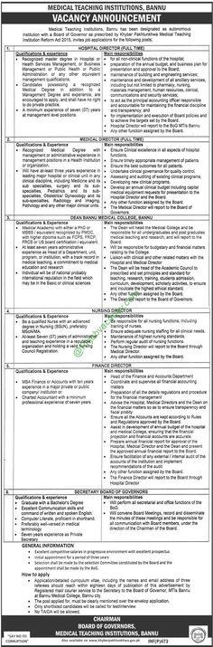 Medical Teaching Institution Mardan Jobs Jobs In Pakistan Pinterest - medical authorization release form