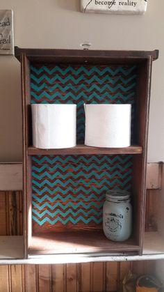 Recyled drawer into a bathroom shelf Hand Painted Signs, Bathroom Shelves, Drawers, Shelf, Home, Decor, Bathroom Wall Shelves, Shelving, Decoration