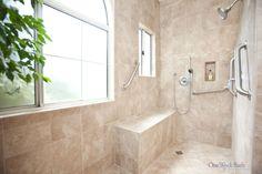 large handicapper bathroom designs | Wheelchair Accessible Bathroom by One Week BathUniversal Design Style