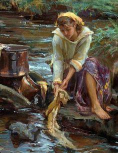 Pintura a óleo sobre tela de Daniel F Gerhartz (Detalhe)