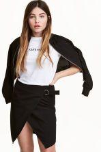 Falda cruzada - Negro - MUJER | H&M ES 1