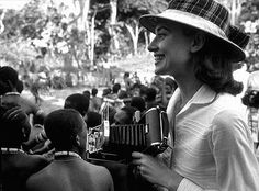 """""""The Nun's Story"""" Audrey Hepburn on location while filming"""
