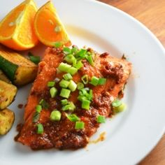 Time to use your outdoor grill again! Chili Garlic BBQ Salmon!