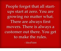 We love this quote about starting a business during a recession.