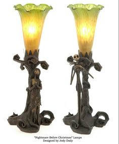 Nightmare Before Christmas Jack & Sally Lamps