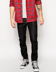 0ef3b37fbf86 ASOS+Slim+Jeans+In+11.5oz+Washed+Black+Denim