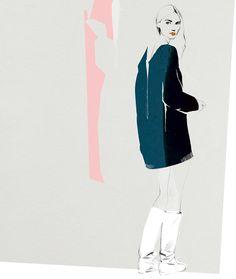 #fashion illustration from @Christine Smythe Smythe Smythe Loeffler Randall
