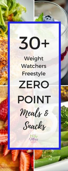 Healthy Weight 30 Weight Watchers Freestyle Zero Point Meals and Snacks - Are you using Weight Watchers and looking for meal and snack ideas? Here are 30 Weight Watchers Freestyle zero point meals and snacks to keep you losing weight the healthy way. Weight Watcher Dinners, Weight Loss Meals, Plats Weight Watchers, Weight Watchers Smart Points, Weight Watchers Diet, Weight Loss Challenge, Weight Loss Drinks, Weight Watchers Program, Weith Watchers