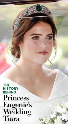 The history behind Princess Eugenie's wedding day tiara. Princess Eugenie Jack Brooksbank, Prince And Princess, Princess Tiara, Princess Beatrice, Royal Brides, Royal Weddings, Princesa Eugenie, Eugenie Wedding, Sarah Ferguson