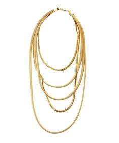 FALLON — bourdin mixed mesh long necklace