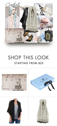 """""""Pretty Pastel Goth"""" by johannamaria37 ❤ liked on Polyvore featuring WALL, Whiteley, Lanvin, NOVICA and Dorothy Perkins"""