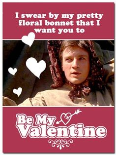 Chocolate & Cream Cake: Show your nerd love with these valentines! (A pic-heavy post) My Funny Valentine, Nerdy Valentines, Valentine Day Cards, Geek Decor, Nathan Fillion, Geek Crafts, Firefly Serenity, Nerd Love, Lol
