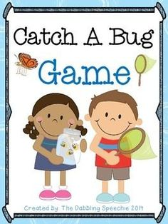 Catch A Bug FREEBIE Game for Speech Therapy from The Dabbling Speechie. Pinned by SOS Inc. Resources. Follow all our boards at pinterest.com/sostherapy/ for therapy resources.