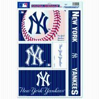 "NEW YORK YANKEES LICENSED MLB DECAL SHEET 17.5""X11.5"""