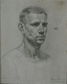 Portrait Sketches, Pencil Portrait, Portrait Art, Drawing Sketches, Cool Drawings, Potrait Painting, Painting Collage, Sketch Painting, Anatomy Art