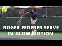Roger Federer Serve In Slow Motion Tennis Gear, Tennis Tips, Sport Tennis, How To Play Tennis, Tennis Serve, Tennis Lessons, Drop Shot, Tennis Workout, Match Point